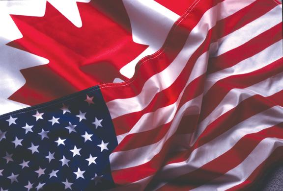 Canadian American Flag