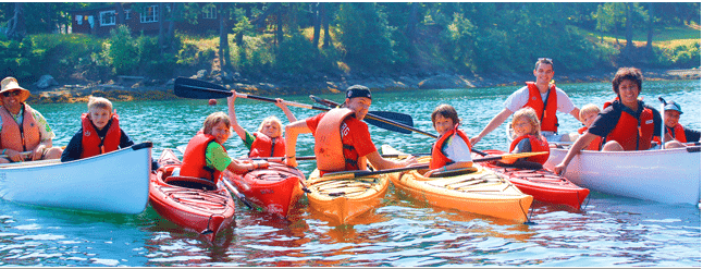 Intervarsity Camps - canoes