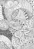 Thumbnail image for Zentangle beginner – first on paper and now on mugs