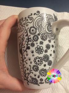 Zentangle Mug finished