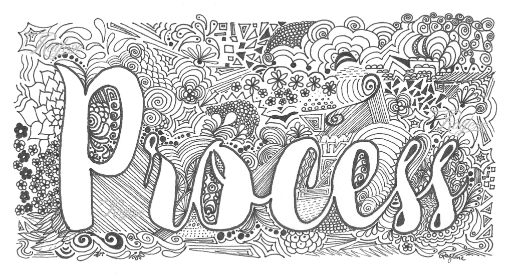 Process - zentangle